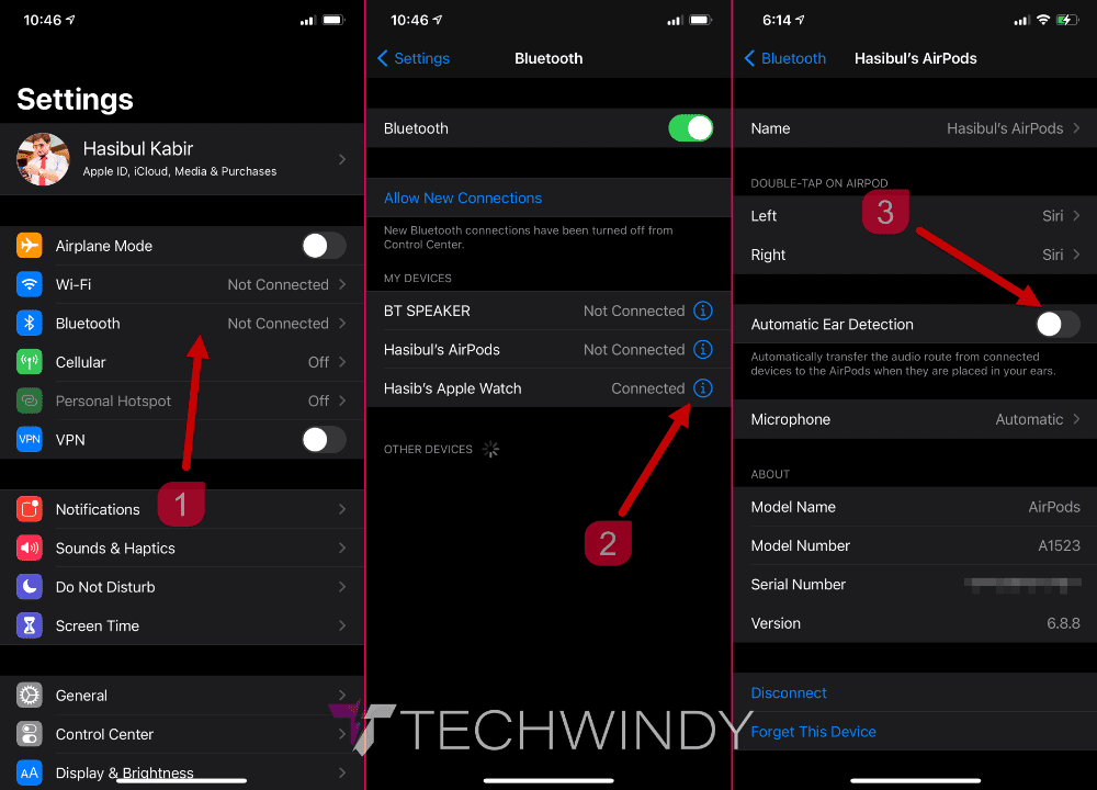 Disable Automatic Ear Detection of AirPods